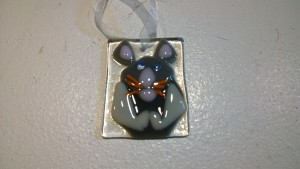 Fused Glass Church Mouse
