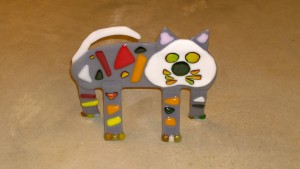 Fused Glass Alley Cat